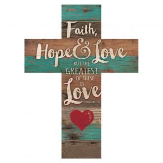 CRO 0106 Veggkors - Faith Hope & Love